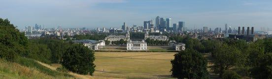 Panorama da faculdade naval real velha - Greenwich, Reino Unido Imagens de Stock Royalty Free