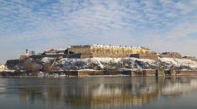 Panorama da fortaleza de Petrovaradin em Novi Sad, Sérvia imagem de stock royalty free
