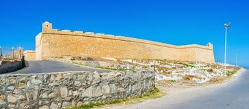 Panorama da fortaleza de Ribat, Mahdia, Tunísia foto de stock royalty free