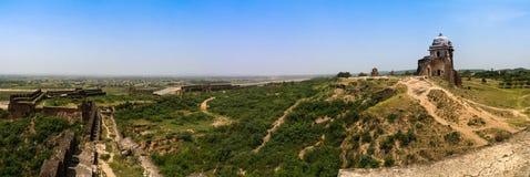 Panorama da fortaleza de Rohtas em Punjab Paquistão Foto de Stock Royalty Free