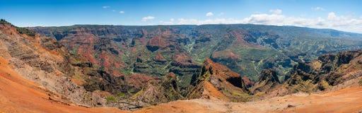 Panorama da garganta de Waimea em Kauai Foto de Stock Royalty Free