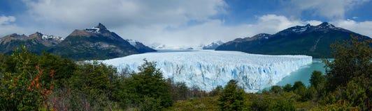 Panorama da geleira de Perito Moreno Fotos de Stock Royalty Free