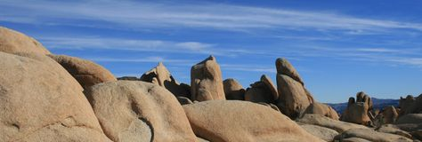 Panorama da geologia de Joshua Tree Fotografia de Stock