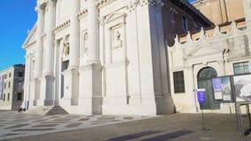 Panorama da igreja de San Giorgio Maggiore em Veneza, arquitetura bonita video estoque