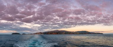 Panorama da ilha de Faial Foto de Stock