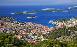 Panorama da ilha Hvar Foto de Stock