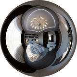 panorama da ilustração 3d do design de interiores do quarto Imagem de Stock