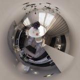 panorama da ilustração 3d do interior da sala de visitas Imagens de Stock Royalty Free
