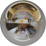 panorama da ilustração 3d do interior da sala de visitas Imagens de Stock