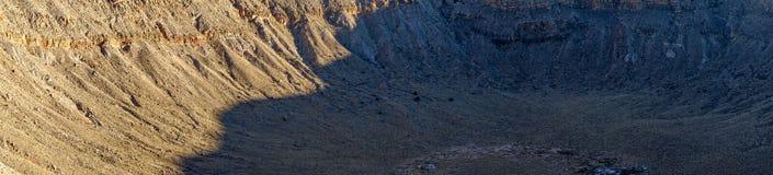 Panorama da luz solar da cratera do Arizona com sombra foto de stock