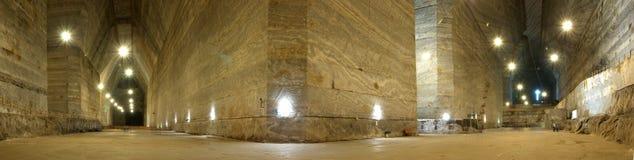 Panorama da mina de sal de Unirea situada em Slanic, o Condado de Prahova, Romênia Fotografia de Stock