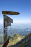 Panorama da montagem Pilatus, Suíça imagens de stock