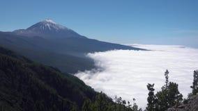 Panorama da montagem Teide em Tenerife vídeos de arquivo