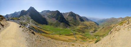 Panorama da montanha de 53 Mpx, coluna du Tourmalet Imagens de Stock Royalty Free