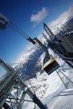 Panorama da montanha feito após o dia do pó Foto de Stock