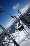 Panorama da montanha feito após o dia do pó Fotografia de Stock Royalty Free