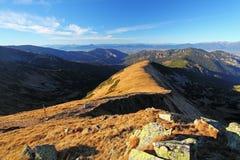 Panorama da montanha no outono em Slovakia - Tatras - Dumbier pequenos Imagem de Stock Royalty Free