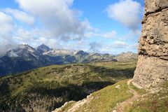 Panorama da montanha nos cumes de Allgäu foto de stock royalty free