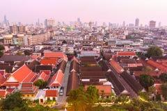 Panorama da noite de Banguecoque Imagens de Stock Royalty Free