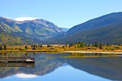 Panorama da paisagem da montanha bonita Imagens de Stock