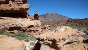 Panorama da paisagem da montanha - vulcão - Tenerife video estoque