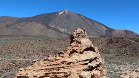 Panorama da paisagem da montanha - vulcão - Tenerife vídeos de arquivo