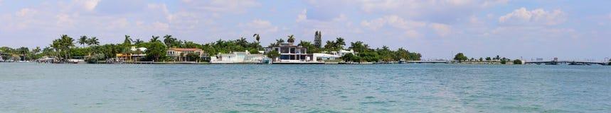 Panorama da paisagem de Miami Fotos de Stock