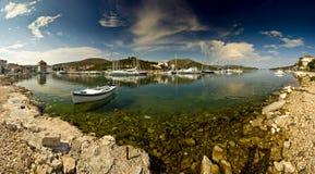Panorama da paisagem do porto Fotos de Stock Royalty Free