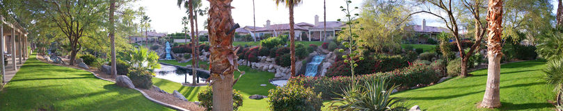 Panorama da paisagem do quintal Imagem de Stock Royalty Free