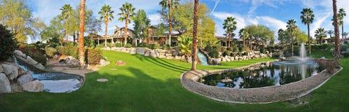Panorama da paisagem do quintal Fotos de Stock Royalty Free