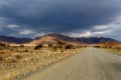 Panorama da paisagem fantrastic do moonscape de Namíbia Fotografia de Stock