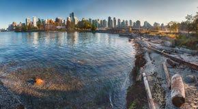 Panorama da paredão de Vancôver Stanley Park Fotografia de Stock Royalty Free
