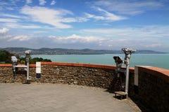 Panorama da península de Tihany, Hungria Fotos de Stock