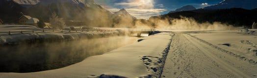 Panorama da pensão do rio Foto de Stock Royalty Free