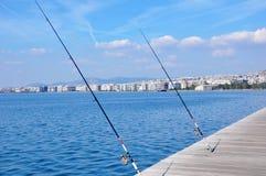 Panorama da pesca da cidade Fotografia de Stock