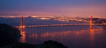 Panorama da ponte de porta dourada Fotografia de Stock Royalty Free