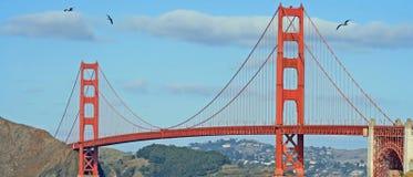 Panorama da ponte de porta dourada Foto de Stock Royalty Free