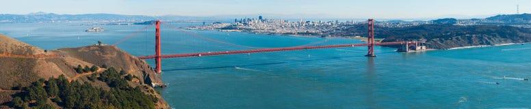 Panorama da ponte de porta dourada Imagem de Stock Royalty Free