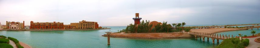 Panorama da praia Foto de Stock Royalty Free