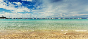 Panorama da praia Fotografia de Stock Royalty Free