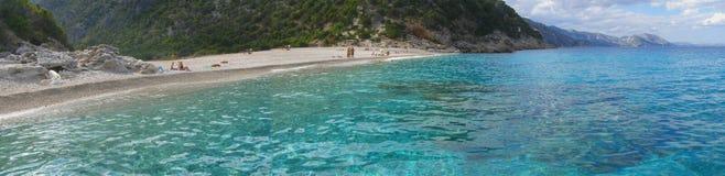 Panorama da praia Fotos de Stock