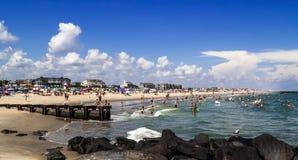 Panorama da praia de Belmar Foto de Stock Royalty Free