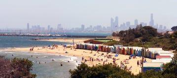Panorama da praia de Brigghton Imagem de Stock