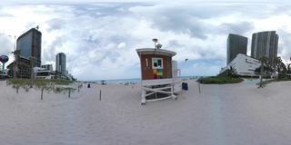 Panorama da praia 360 de Hallandale video estoque