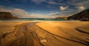 Panorama da praia de Mangersta Fotos de Stock