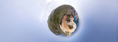 Panorama da praia de Navagio Imagem de Stock