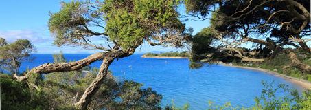 Panorama da praia de Portsea fotografia de stock royalty free