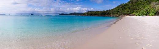Panorama da praia de Whitehaven na ilha do domingo de Pentecostes Fotos de Stock