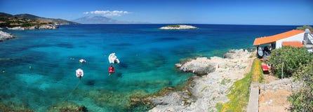 Panorama da praia de Zakynthos Fotografia de Stock