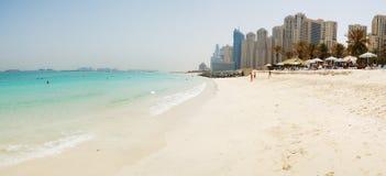 Panorama da praia na residência da praia de Jumeirah Foto de Stock Royalty Free